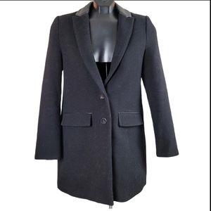 ZARA TRAFALUC Coat Black Wool Fall Winter